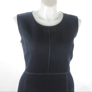 Lafayette 148  Black Wool Sleeveless Dress Size 18